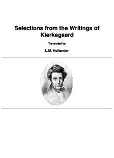 Kierkegaard - fear and trembling