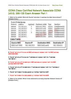 CCNA Cisco Certified Network Associate CCNA (v3.0): 200-125 Exam Answer Part 1