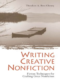 Writing Creative Nonfiction: Fiction Techniques for Crafting Great Nonfiction  Writing & Journalism