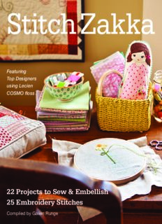 Stitch zakka: 22 projects to sew & embellish — 25 embroidery stitches