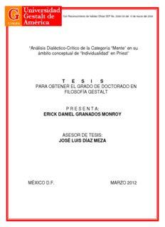 ERICK DANIEL GRANADOS MONROY ASESOR DE TESIS