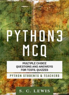 Python 3 MCQ - Multiple Choice Questions n Answers for Tests, Quizzes - Python Students & Teachers: Python3 Programming Jobs QA