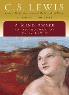 A mind awake; an anthology of C.S. Lewis