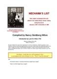 Nechama's List