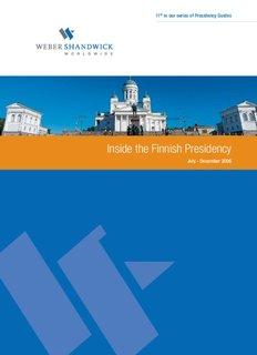 Inside the Finnish Presidency - Weber Shandwick