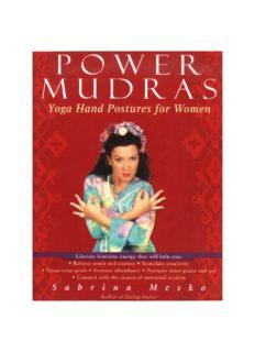 Power Mudras: Yoga Hand Postures for Women