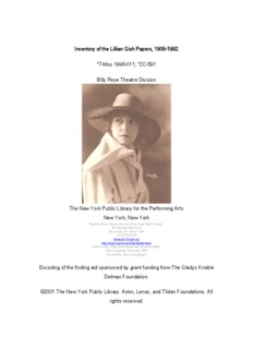 Lillian Gish Papers