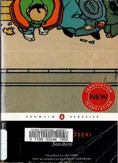 Natsume, Soseki, Sanshiro (with Introduction by Haruki Murakami)