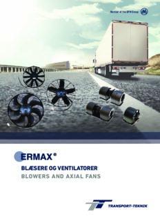blæsere og ventilatorer blowers and axial fans