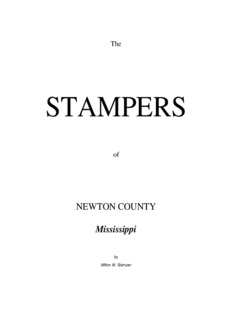 The Stampers of Newton County, Mississippi
