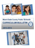 14 Curriculum Bulletin - hubert o. sibley k-8 academy - Miami-Dade