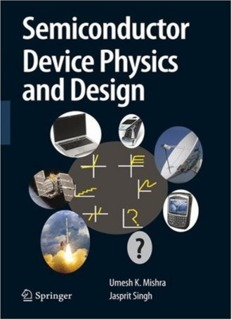 SEMICONDUCTOR DEVICE PHYSICS AND DESIGN