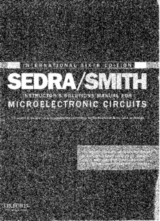 Microelectronics ( 6th Edition by Sedra Smith) Solution Part 1