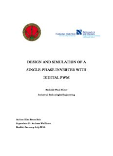 design and simulation of a single-phase inverter with digital pwm