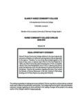 Catalog 2009-2010 - Nunez Community College