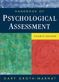 Handbook of Psychological Assessment, Fourth Edition .pdf