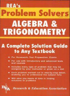 Algebra & Trigonometry Problem Solver