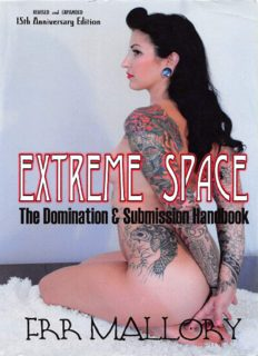 Extreme Space The Domination And Submission Handbook