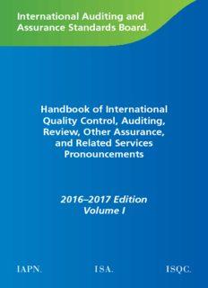 International Auditing and Assurance Standards Board Handbook of International Quality Control ...