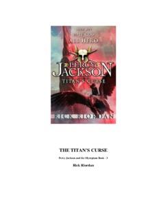 THE TITAN'S CURSE - Percy Jackson, The Heroes of - Yola