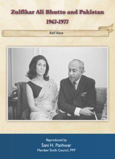 Zulfikar Ali Bhutto and Pakistan 1967-1977