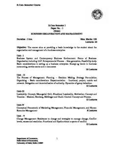 B.Com. Semester Course 1 B.Com Semester I Paper No.