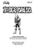 Bally Judge Dredd Manual