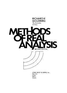 Methods of Real Analysis(Richard R. Goldberg)