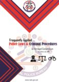 Police Laws and Criminal Procedure