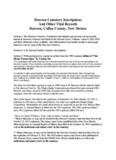 Dawson Cemetery Inscriptions And Other Vital Records Dawson, Colfax County, New Mexico