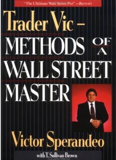 Trader Vic: Methods of a Wall Street Master