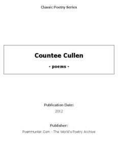Countee Cullen - poems