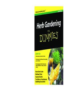 Herb Gardening For Dummies, 2nd Edition (For Dummies (Home & Garden))