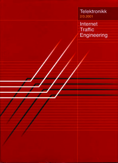 Internet Traffic Engineering