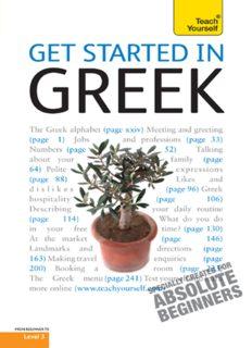 Get Started in Greek
