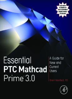 Essential PTC Mathcad Prime 3.0  A Guide for New and Current Users