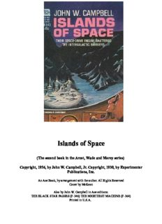 Islands Of Space (The second book in the Arcot, Wade and Morey series)