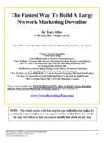 Fast Network Marketing - MLM Training - MLM Prospecting