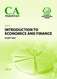 introduction to economics and finance