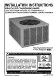 RHEEM Air Conditioner RASL-JEZ Installation Manual