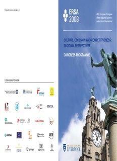 congress sponsors - ERSA - European Regional Science Association