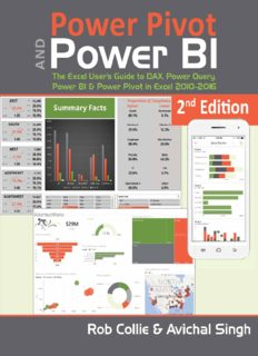 Power Pivot and Power BI.  The Excel User's Guide to DAX, Power Query, Power BI & Power Pivot in Excel 2010-2016