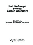 Holt McDougal Florida Larson Geometry - RJSSOLUTIONS.COM