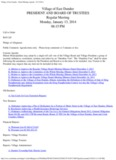 Village of East Dundee - Board Meeting Agenda - 01 - West Dundee
