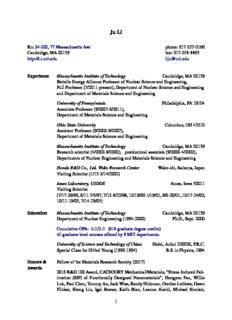 Rm 24-202, 77 Massachusetts Ave Cambridge, MA 02139 http://Li.mit.edu phone: 617-253-0166 ...