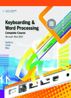 Keyboarding and Word Processing, Complete Course, Lessons 1-120: Microsoft Word 2010: College Keyboarding - 18e
