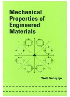 Mechanical Properties of Engineered Materials (Mechanical Engineering (Marcell Dekker))