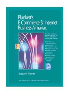 Plunkett's E-Commerce & Internet Business Almanac 2010: E-Commerce & Internet Business Industry Market Research, Statistics, Trends & Leading Companies ... E-Commerce and Internet Business Almanac)