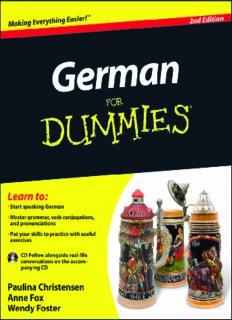 German For Dummies, (For Dummies (Language & Literature))