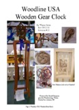 Woodline USA Wooden Gear Clock